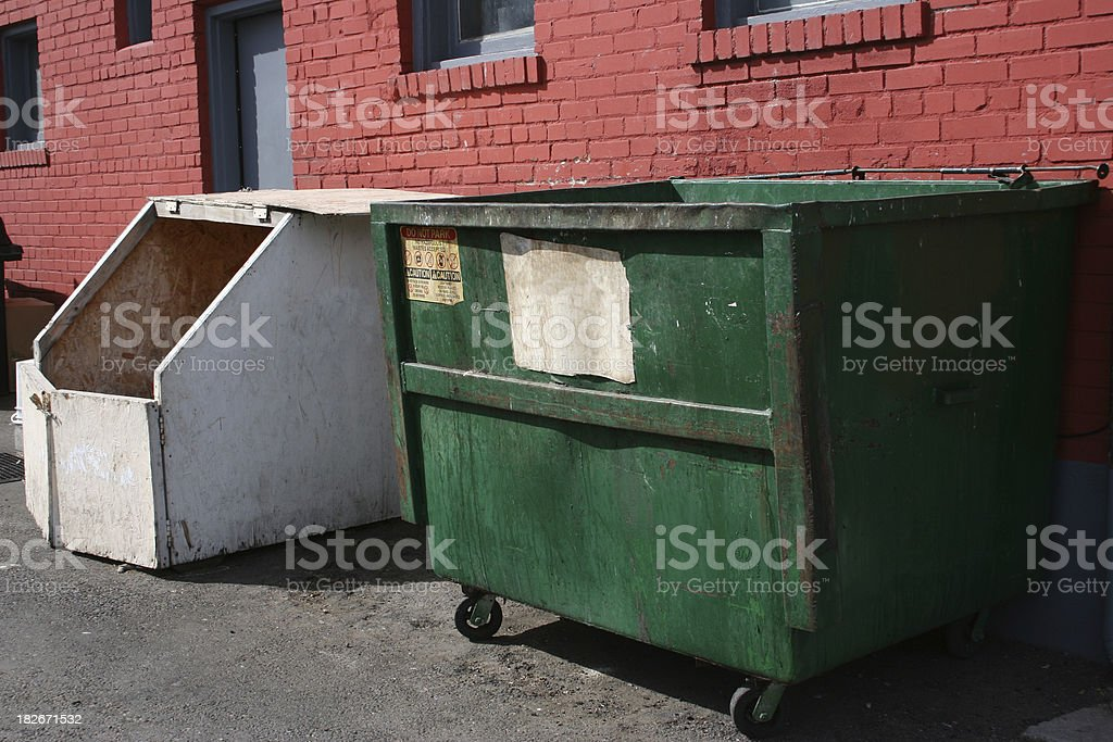 Dumpsters Out Back royalty-free stock photo