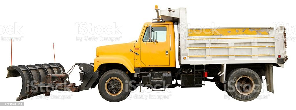 Dumptruck with Plow stock photo