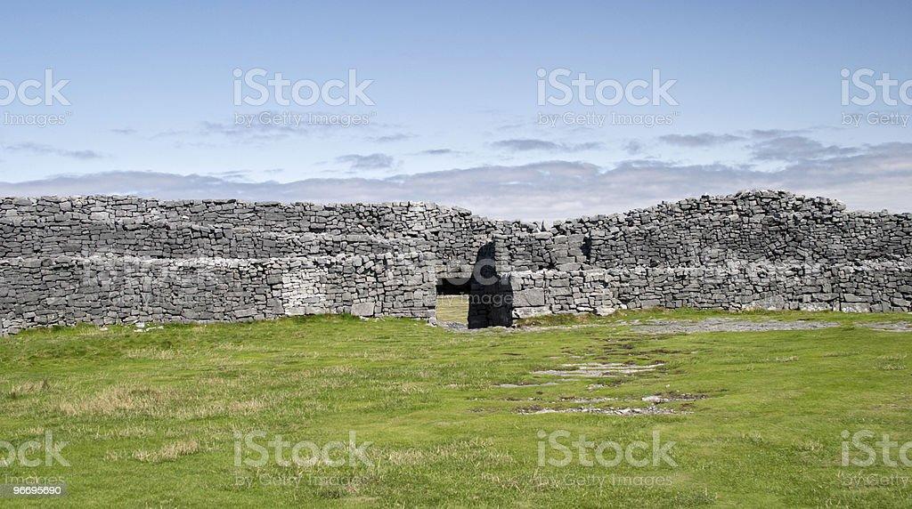 Dun Aonghasa, Aran islands, Ireland royalty-free stock photo