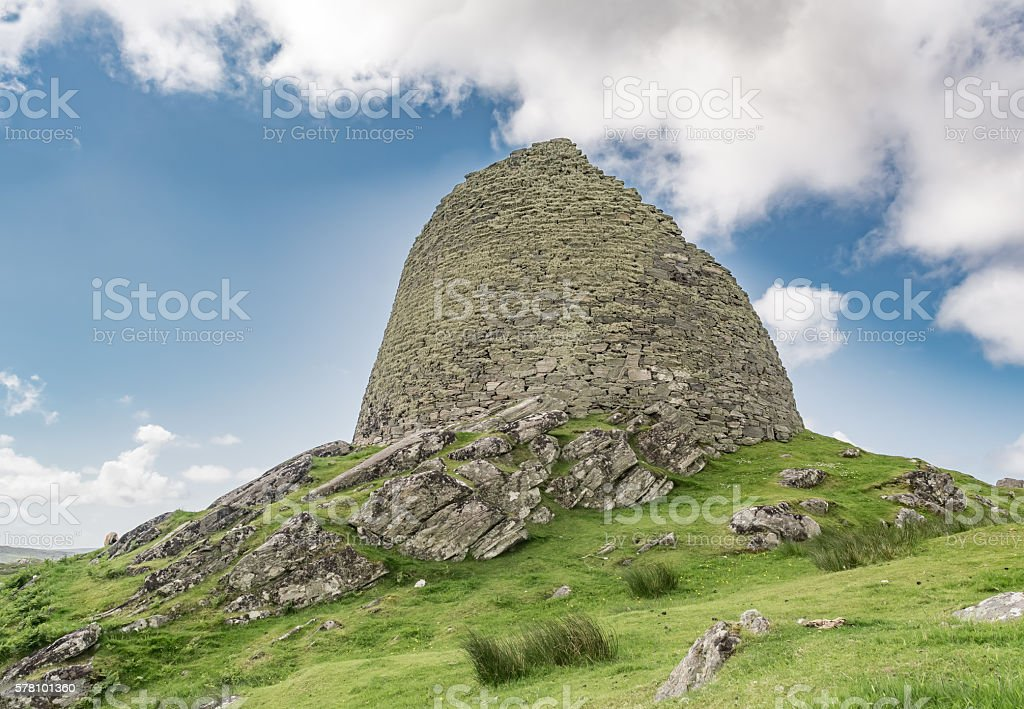 Dun Carloway, The Isle of Lewis in Scotland stock photo