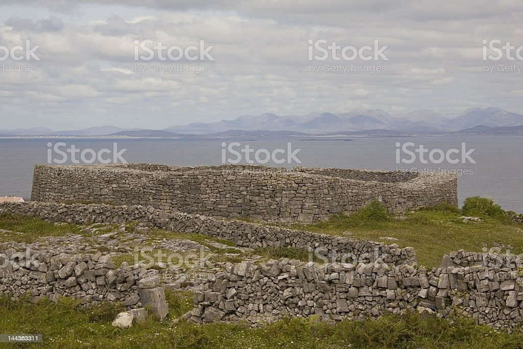 Dun Eoghanachta Fort, Inis Mór, Îles d'Aran photo libre de droits