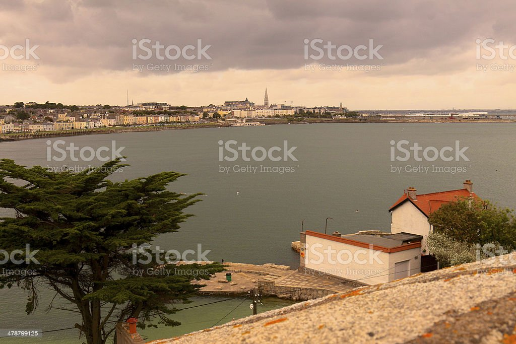Dun Laoghaire from Sandycove Point stock photo