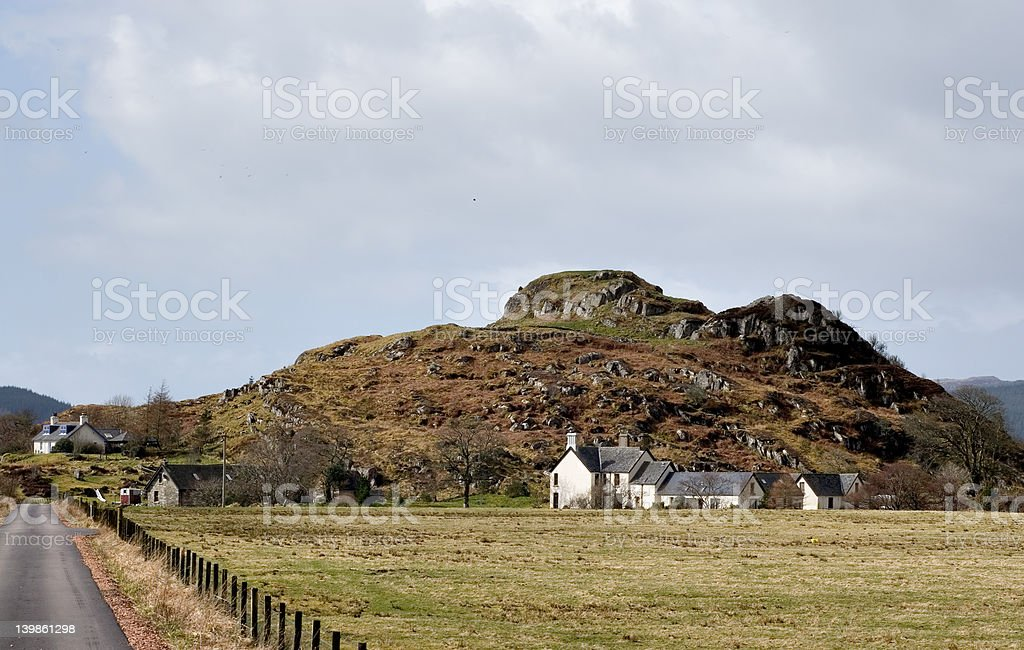 Dunadd Hill Fort stock photo