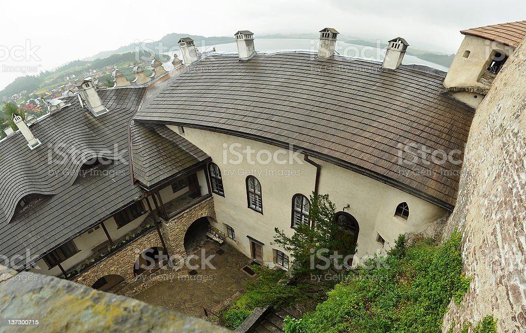 Dunajec castle stock photo