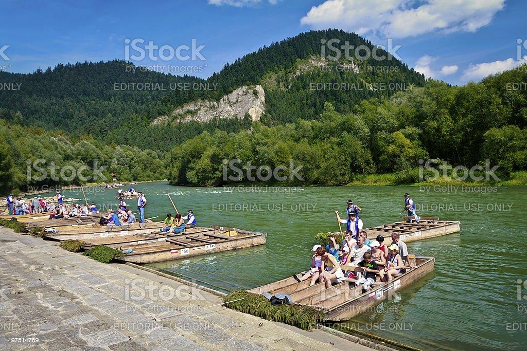 Dunajec gorge in Pieniny Mountains, Poland stock photo
