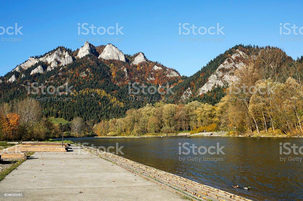 Dunajec River Gorge in Pieniny Mountains, Poland stock photo