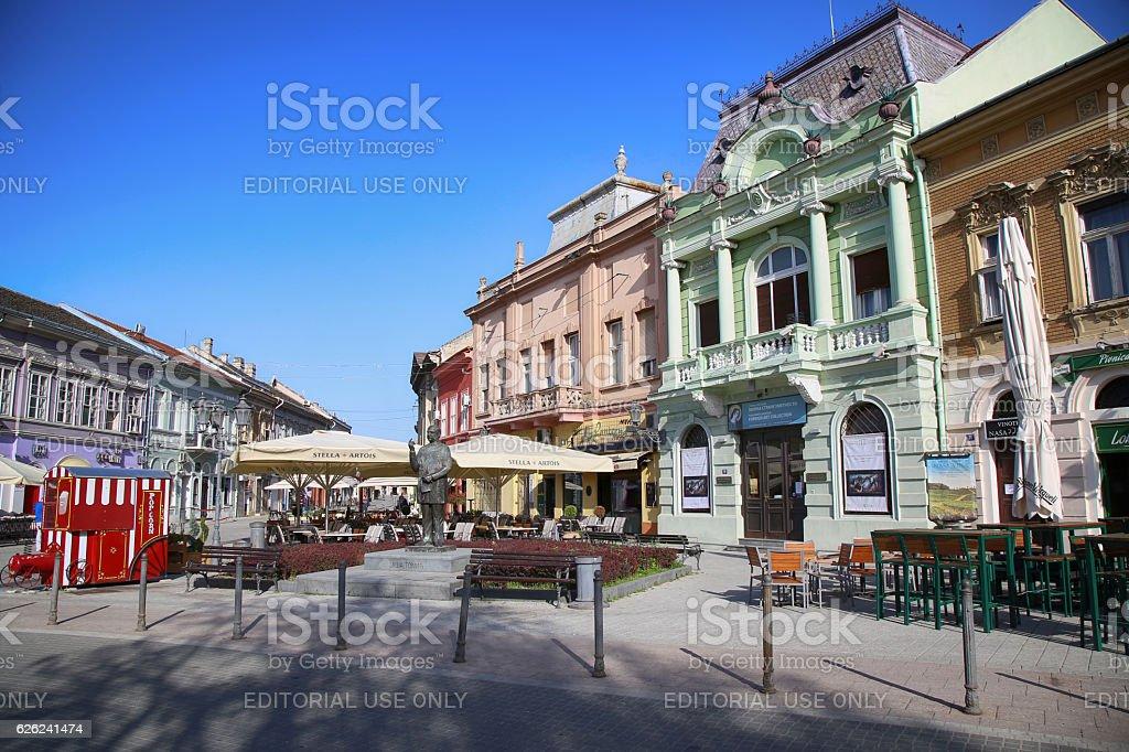 Dunavska Street in Novi Sad stock photo