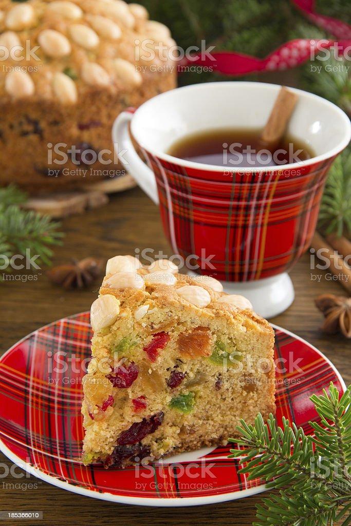 Dundee cake royalty-free stock photo