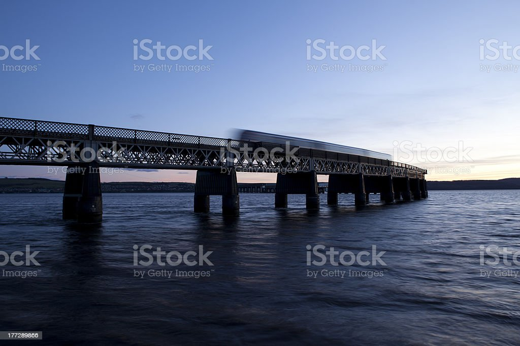 Dundee Tay Bridge stock photo