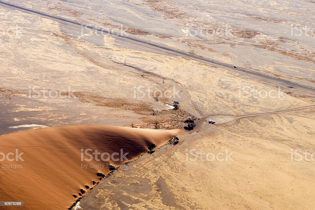 dune 45 birdsview stock photo
