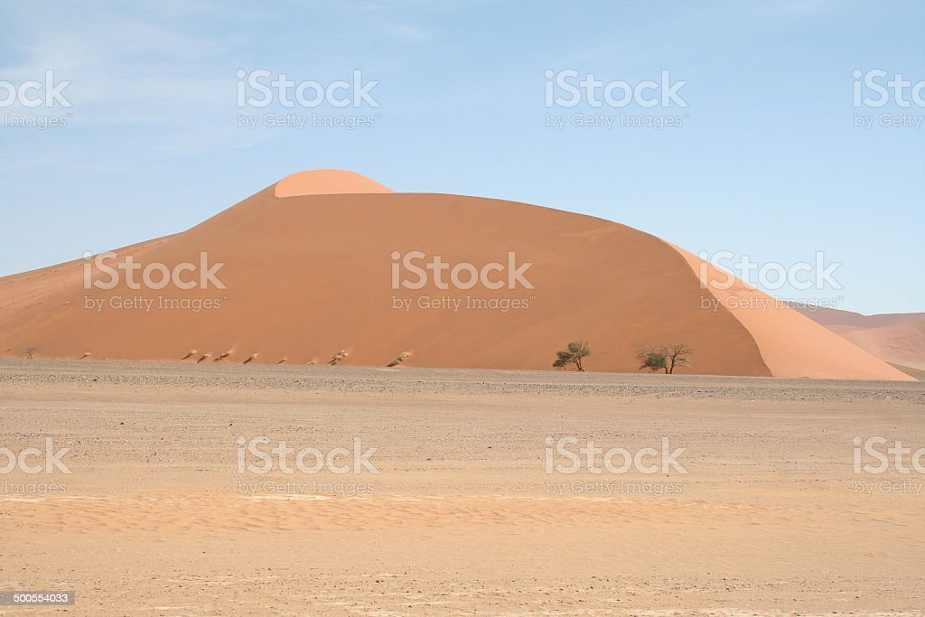 Dune 45, Dunes of Sossusvlei, Namib Desert, Namibia, Africa stock photo