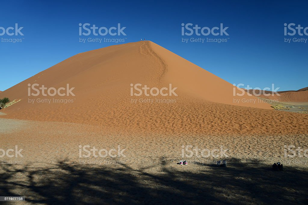 Dune 45, Sossusvlei, Namib, Namibia stock photo