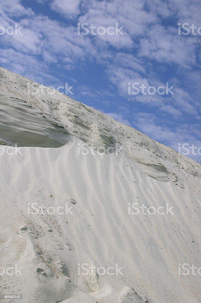 Dune and sky stock photo
