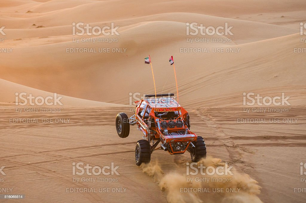 Dune buggy in the sands- stock photo