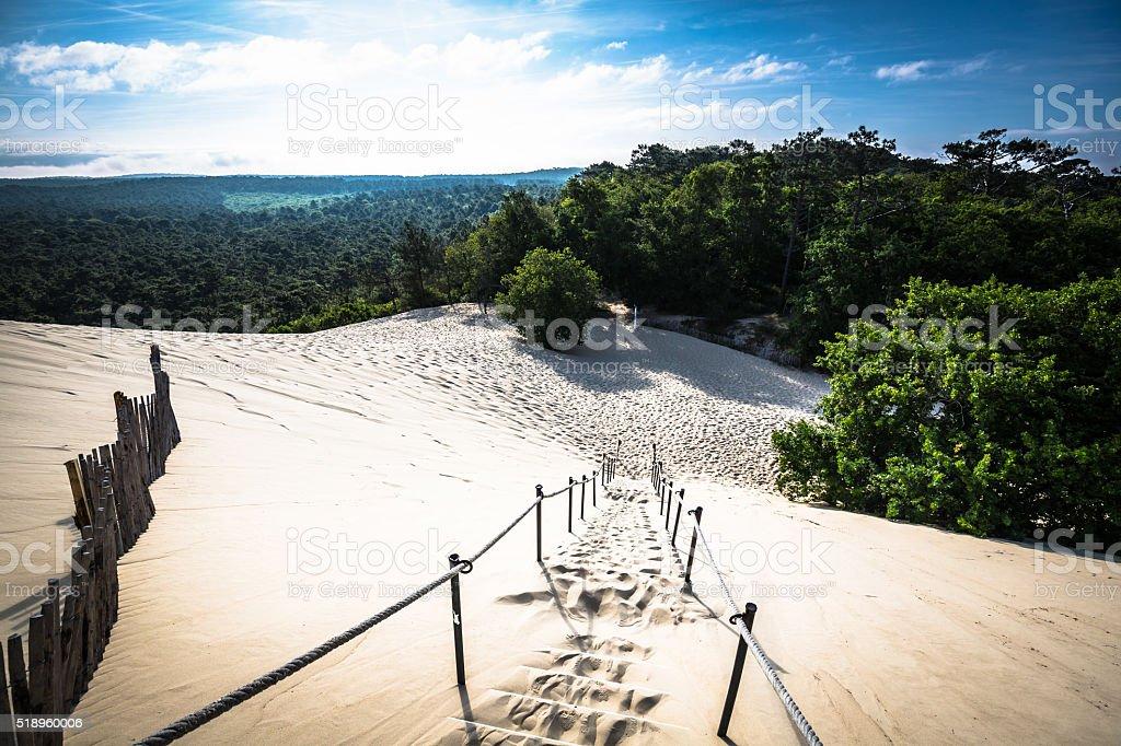 Dune du Pilat at 114 Metres the highest sand dune stock photo