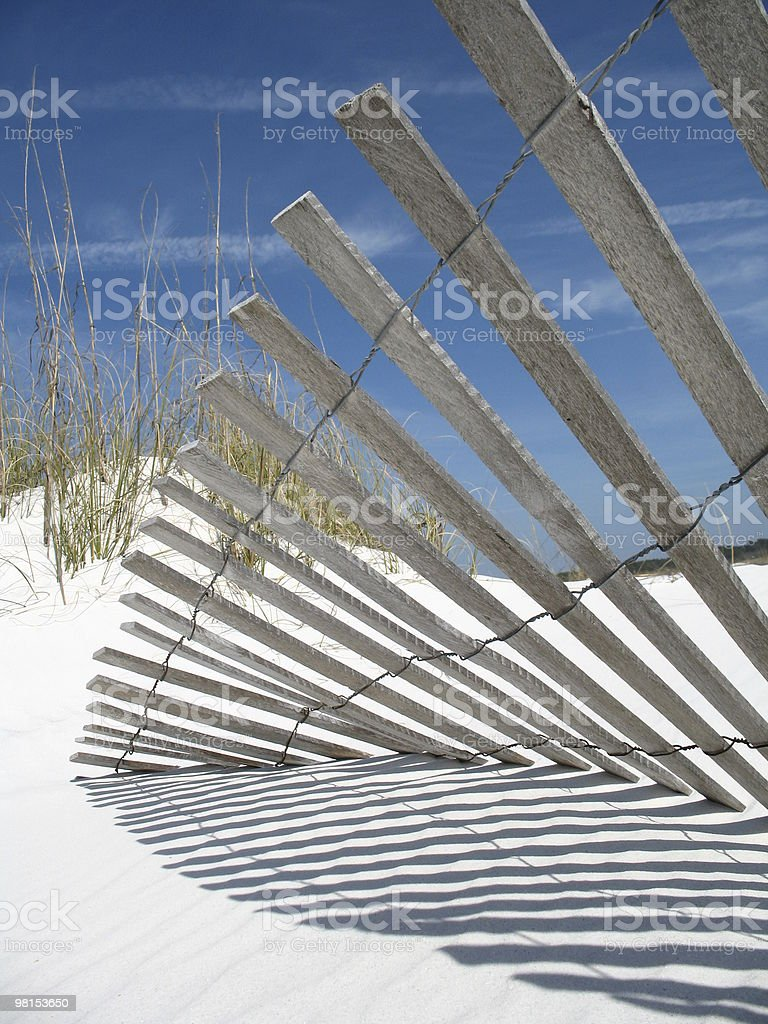 Dune Fence Protection stock photo