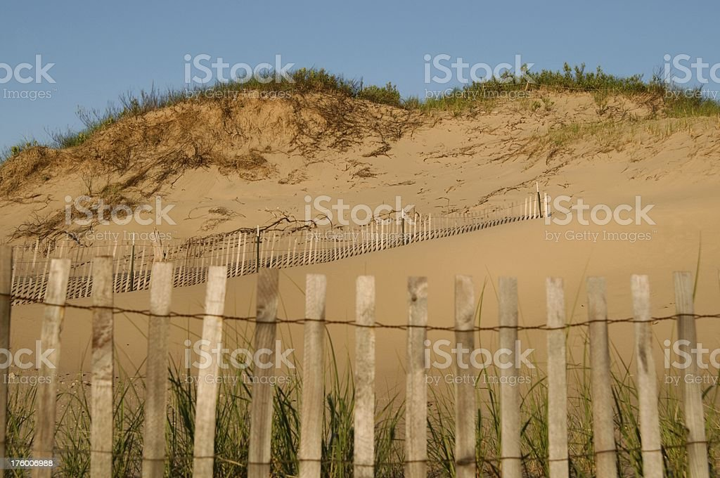 Dune Fencing royalty-free stock photo