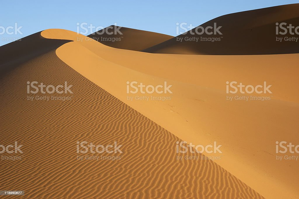 Dune formation on Erg Chebbi stock photo