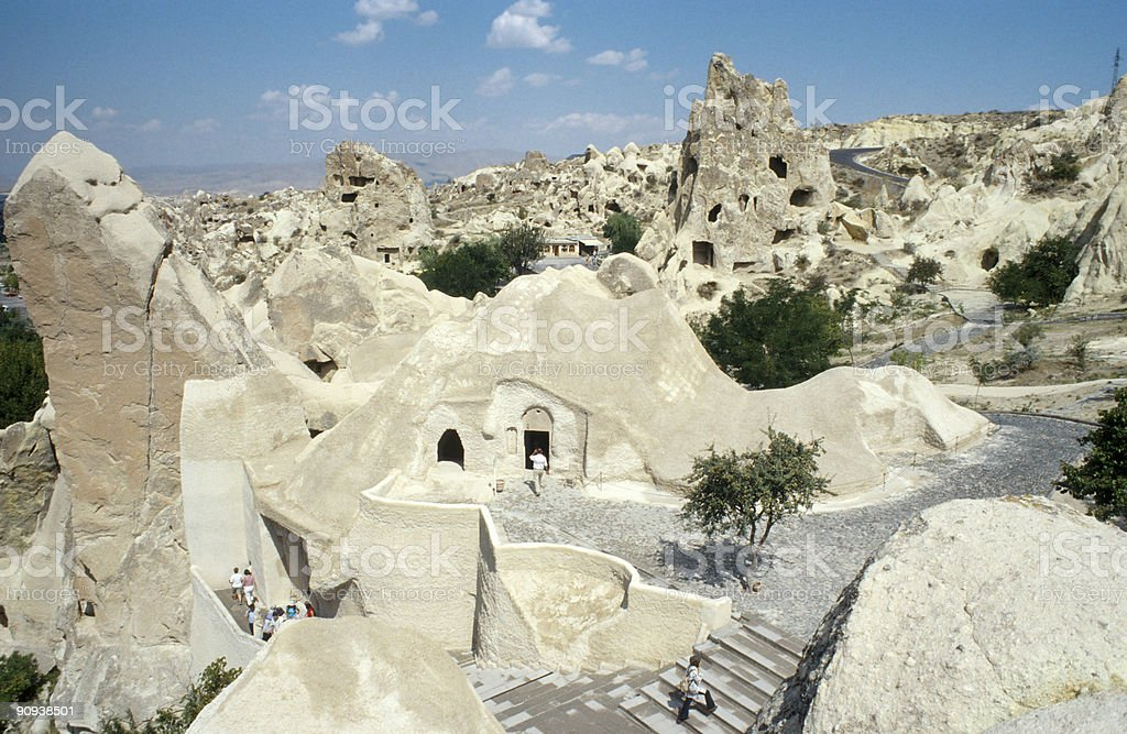 Dune landscape, basalt rocks, Cappadokia, Turkey royalty-free stock photo