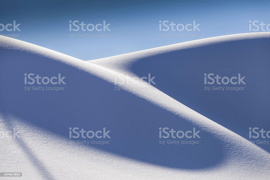 Dune neige-neige de culture-Savoie stock photo