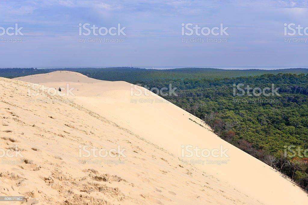Dune of Pilat in France stock photo
