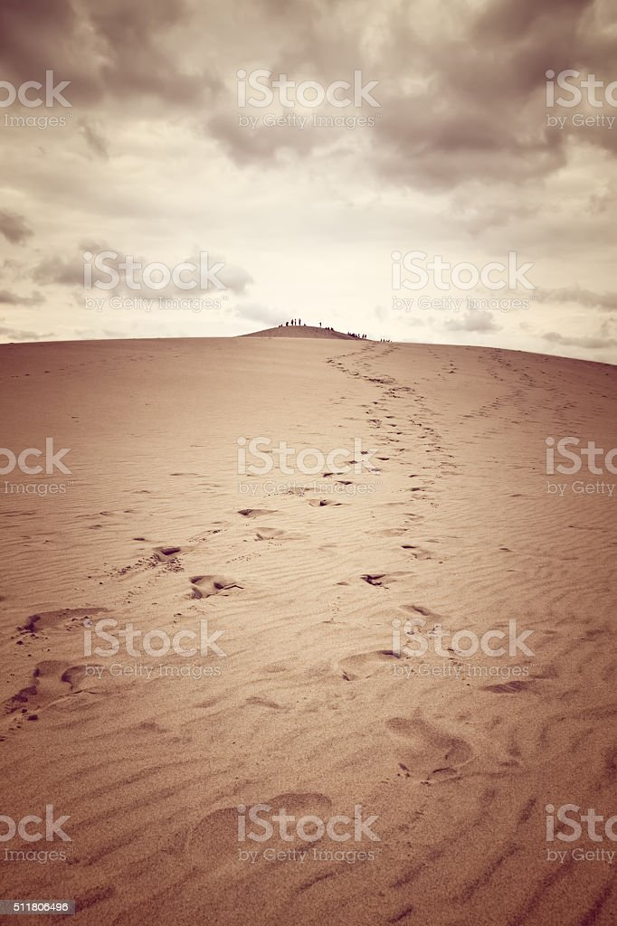 Dune of Pilat, the tallest sand dune in Europe stock photo