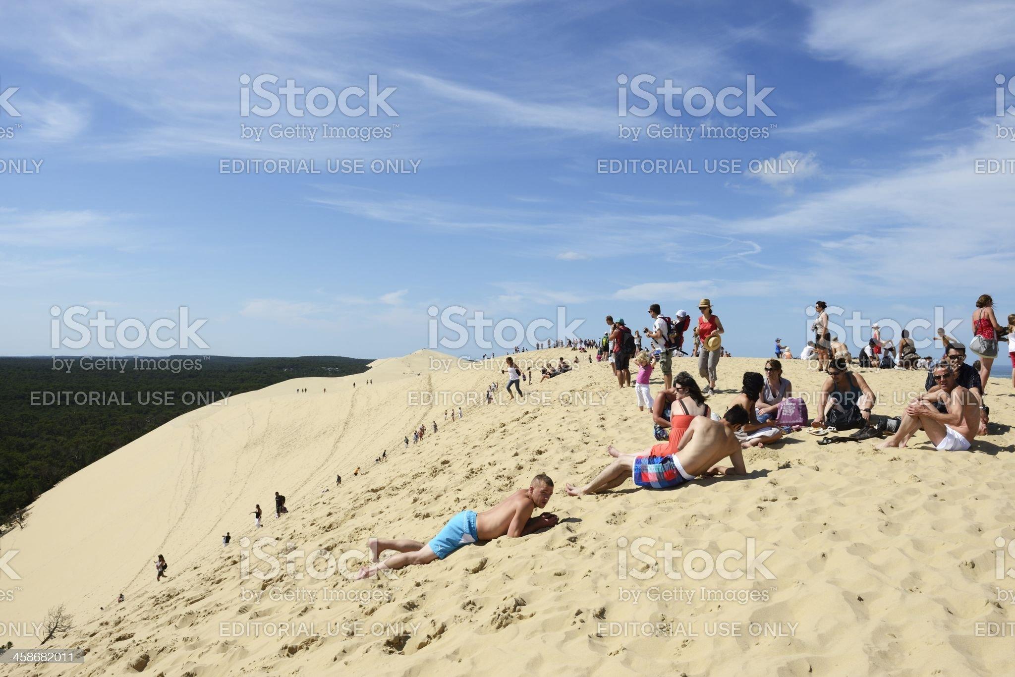 Dune of Pyla royalty-free stock photo