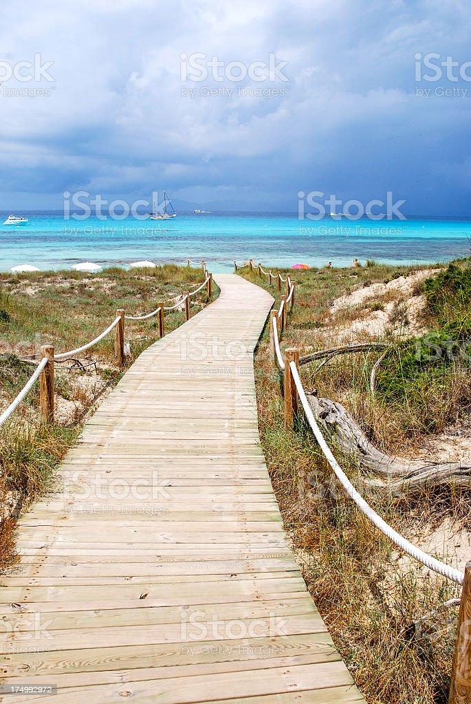 Dune pathway stock photo