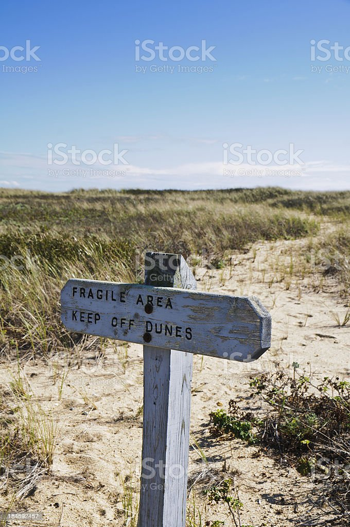 Dune Protection stock photo