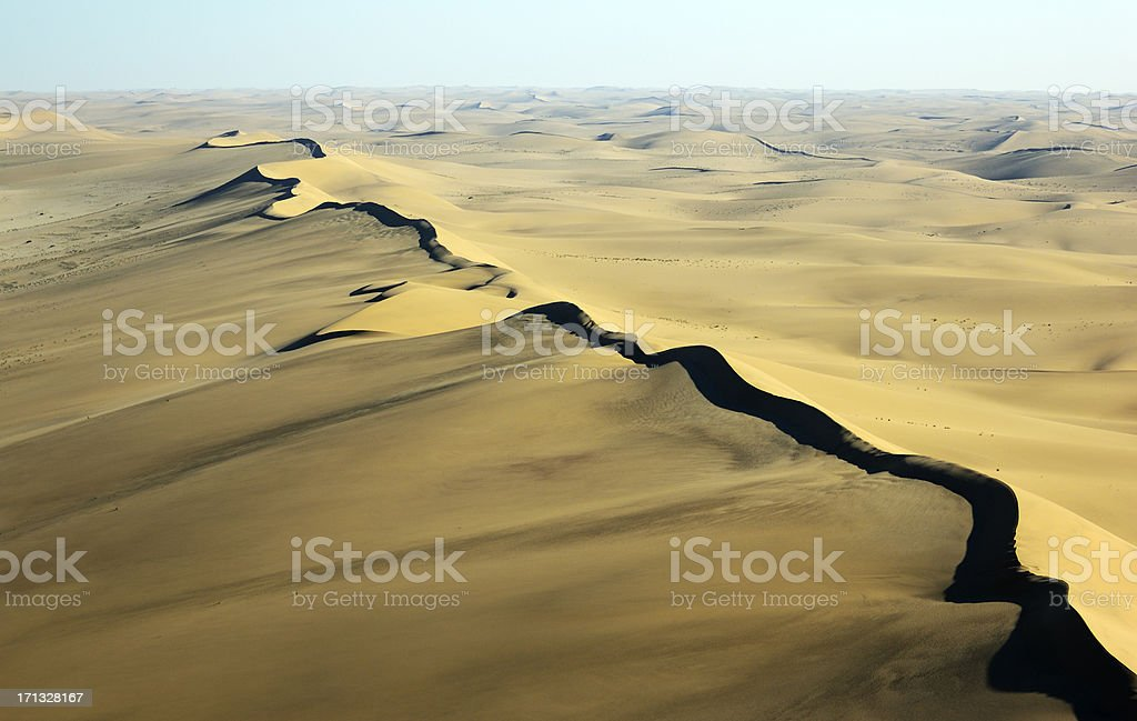 Dune ridge early morning stock photo