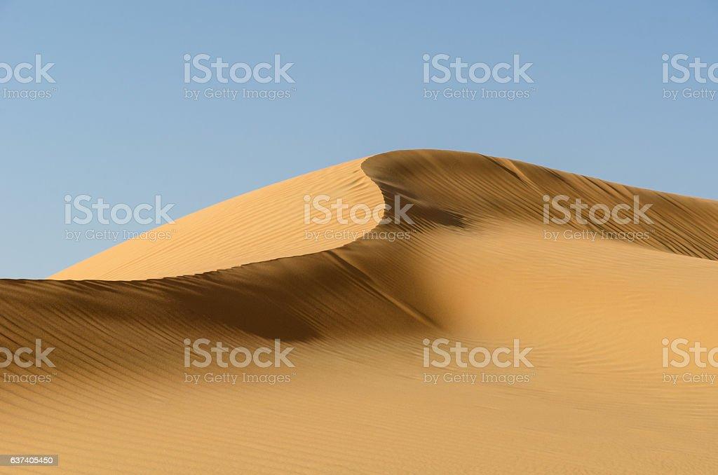Dune ridge in the Liwa Desert stock photo