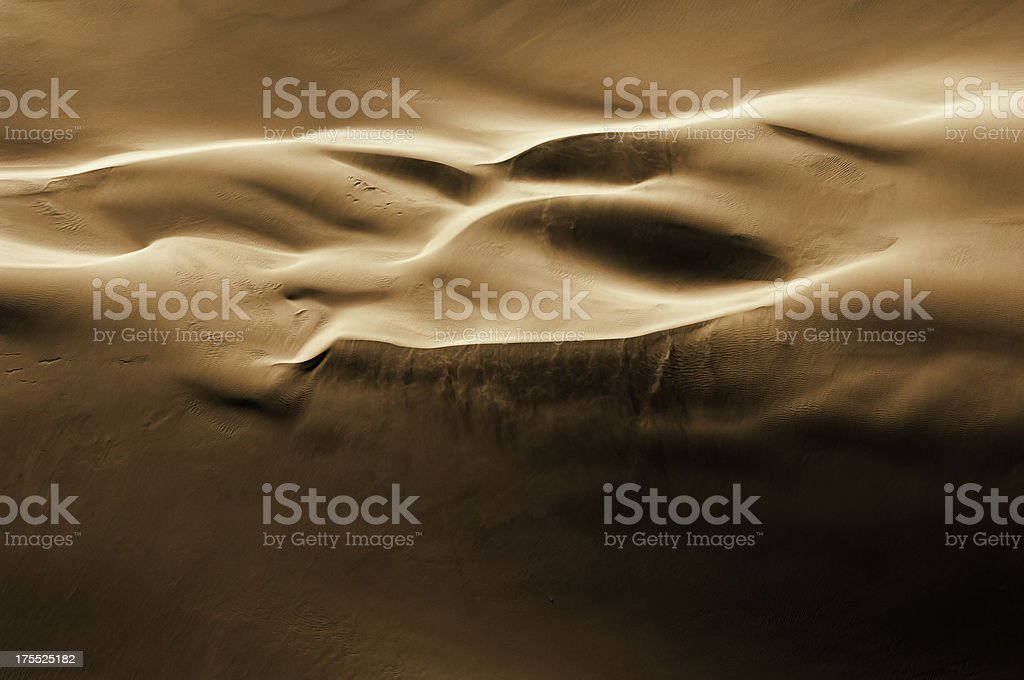 Dune structure seen from an aircarft stock photo