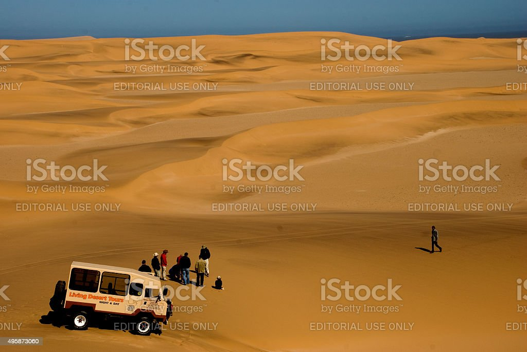 Dune trip near Swakopmund town stock photo