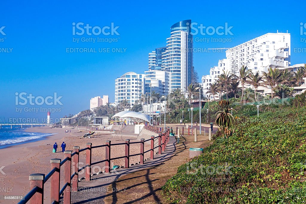 Dune Vegetation and Commercial and Residential Complexes stock photo