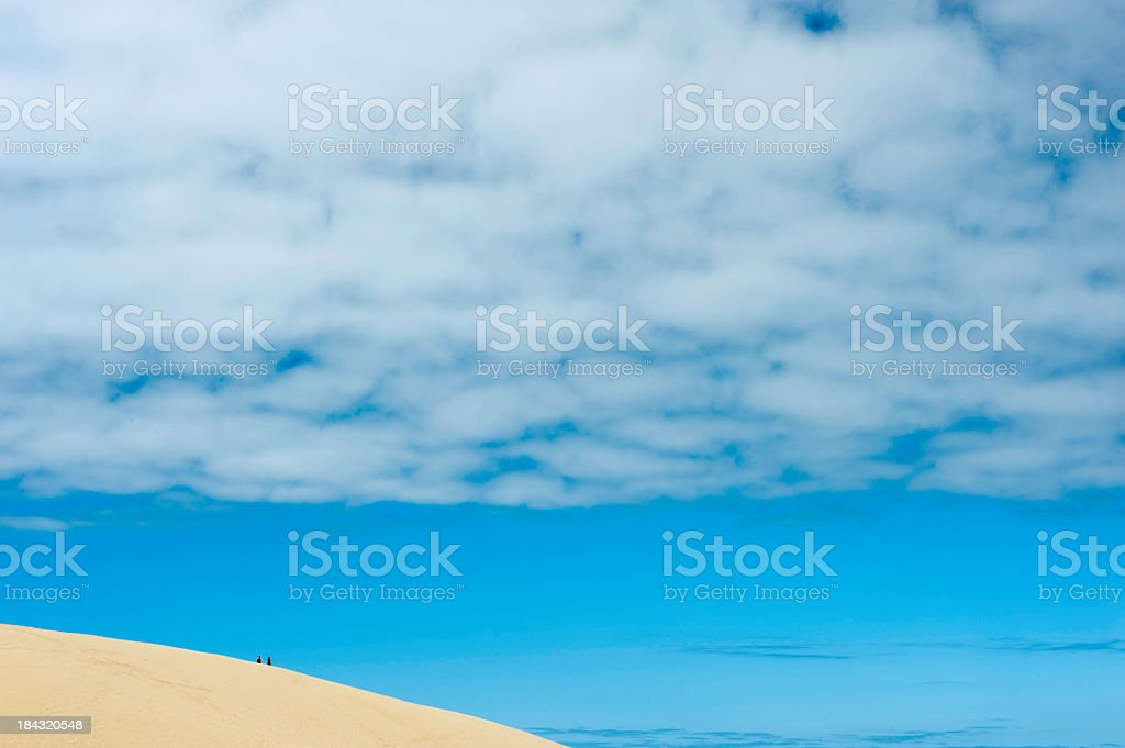 Dune Walking stock photo