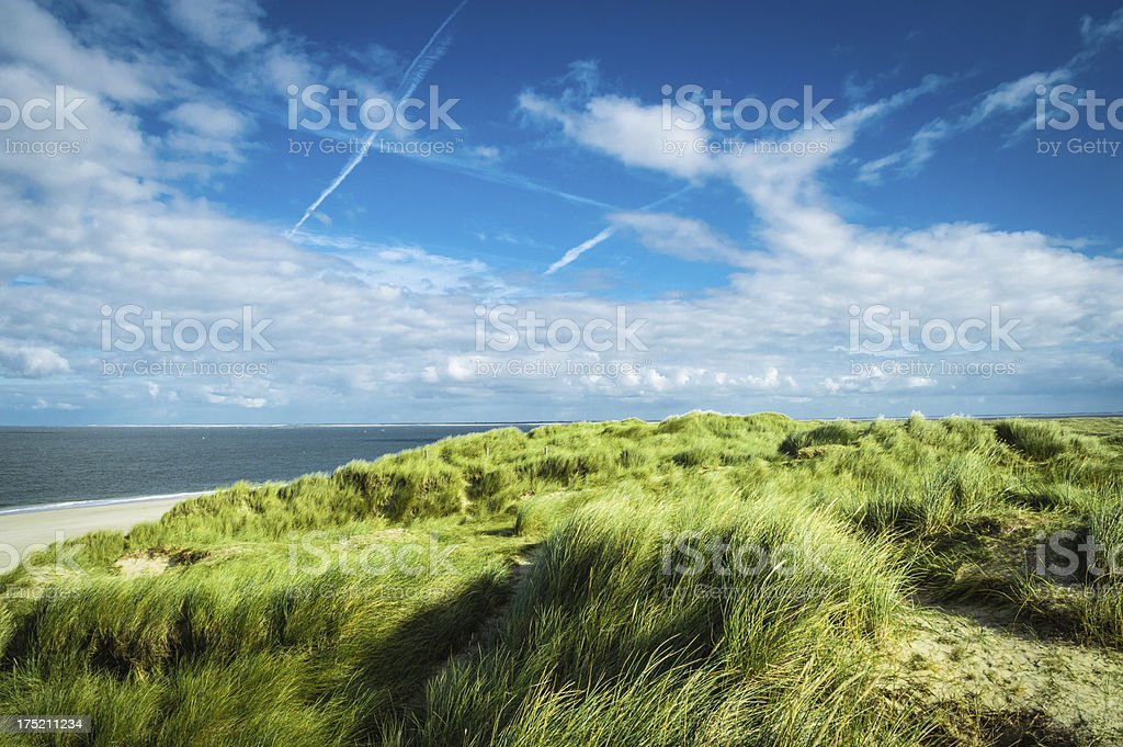 Dune with seaview stock photo