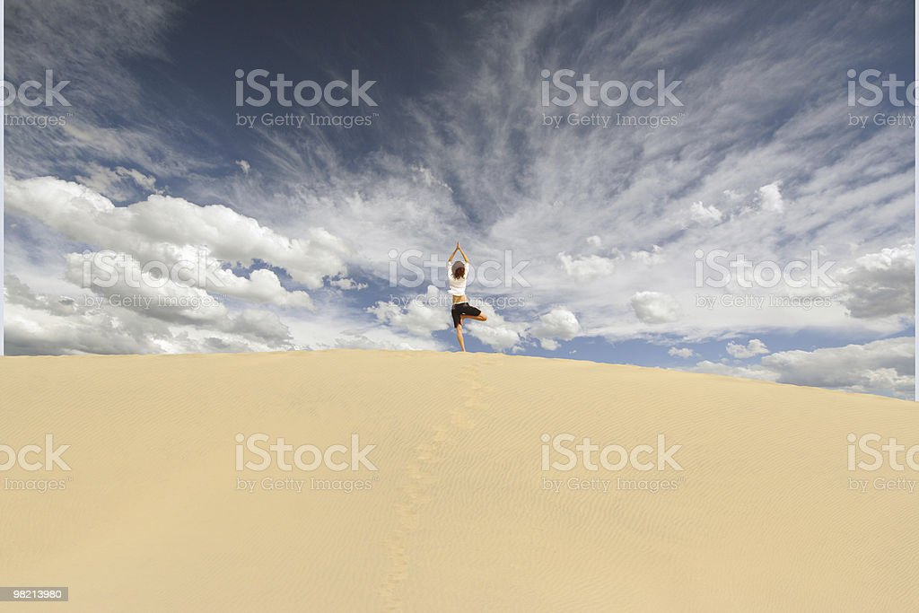 Dune Yoga stock photo