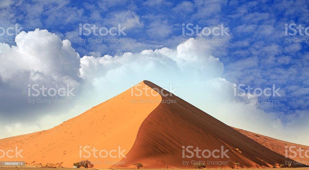 Dune45 in Namib Naukluft Desert stock photo