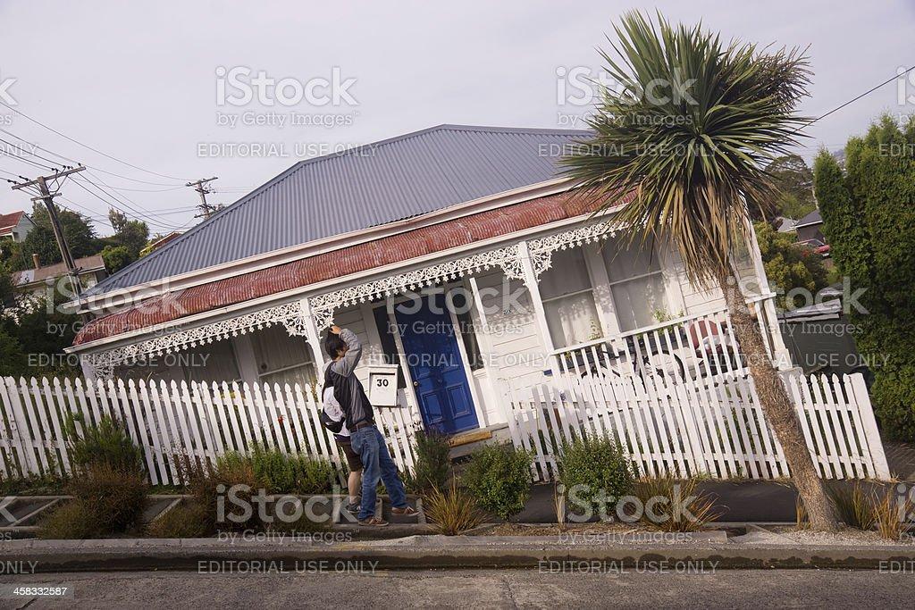 Dunedin - Baldwin St, The World's Steepest Street royalty-free stock photo
