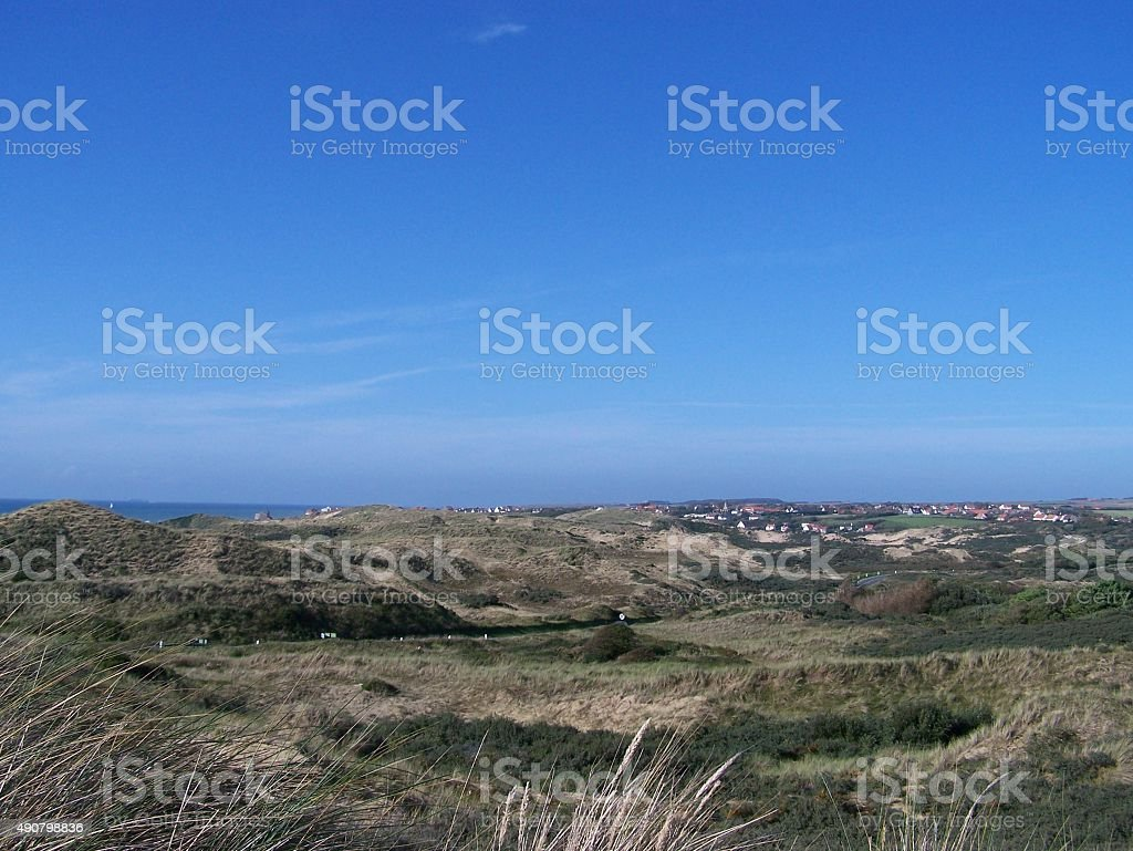 Dunes and sea stock photo