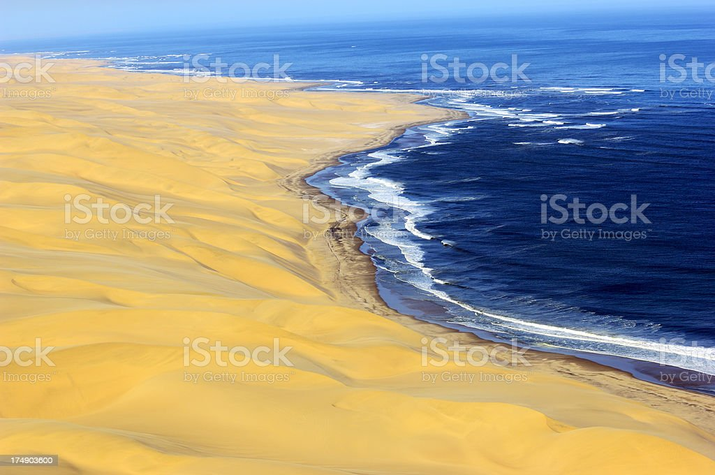 Dunes and waves stock photo