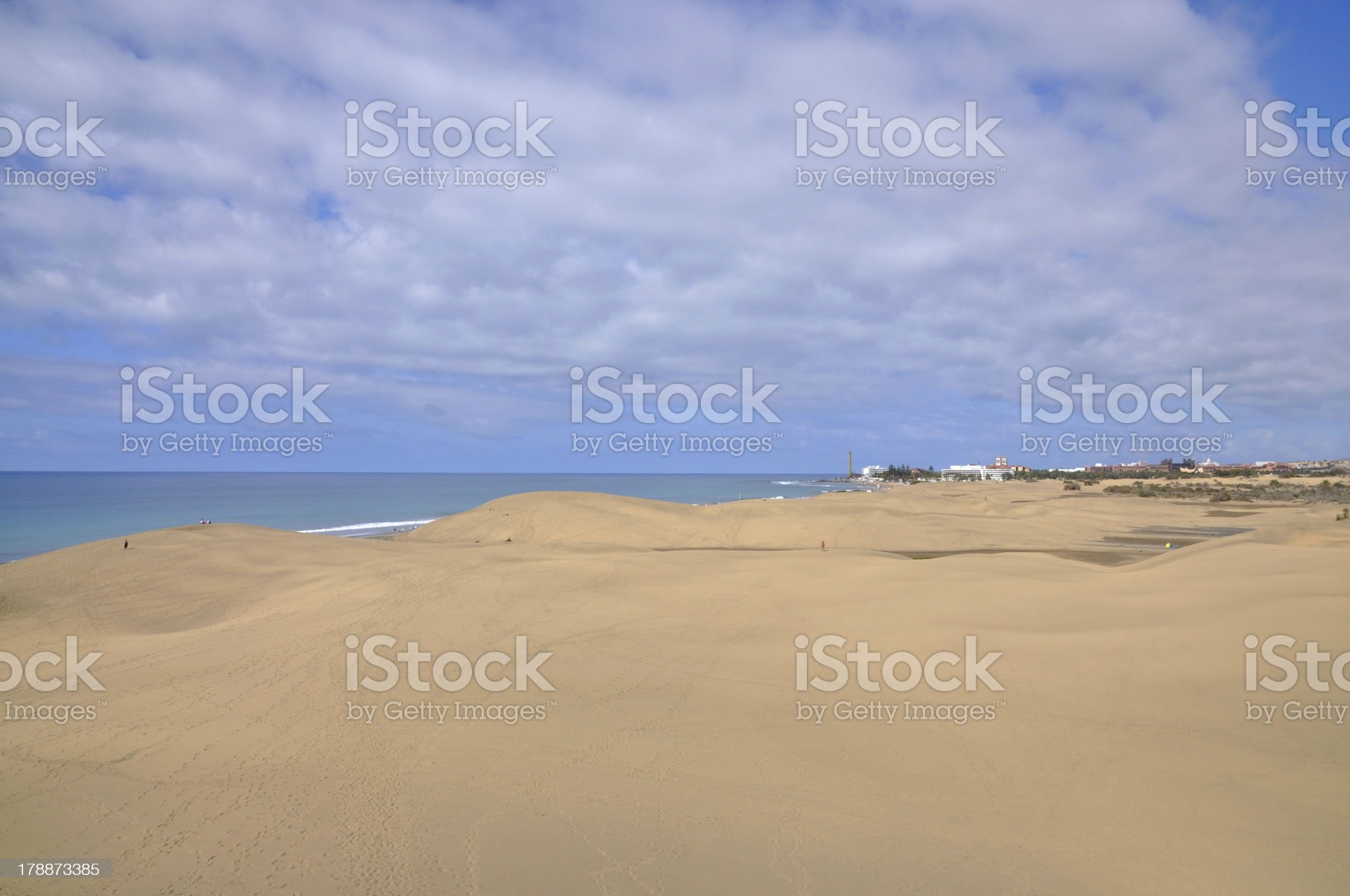 Dunes at Maspalomas, Gran Canaria royalty-free stock photo