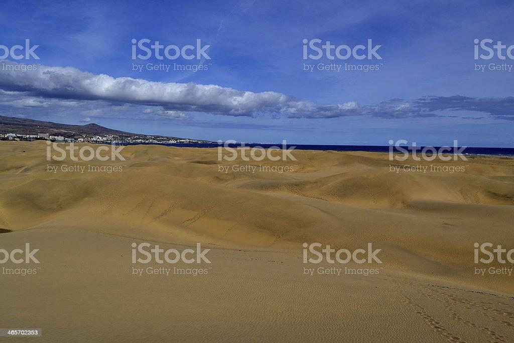 Dunes at Maspalomas, Gran Canaria. stock photo