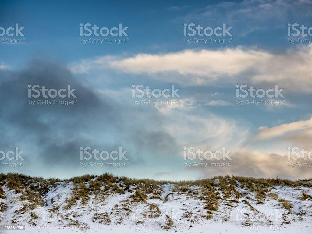 Dunes at the Danish North Sea coast stock photo