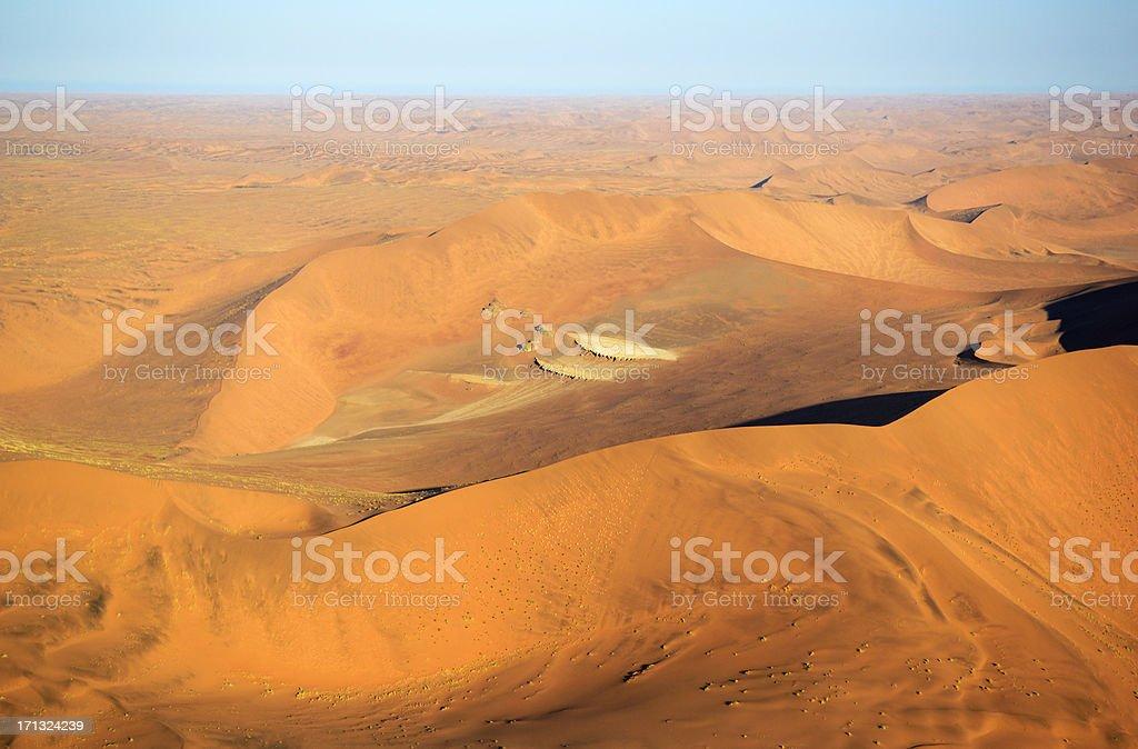 Dunes behind the Dead Vlei stock photo