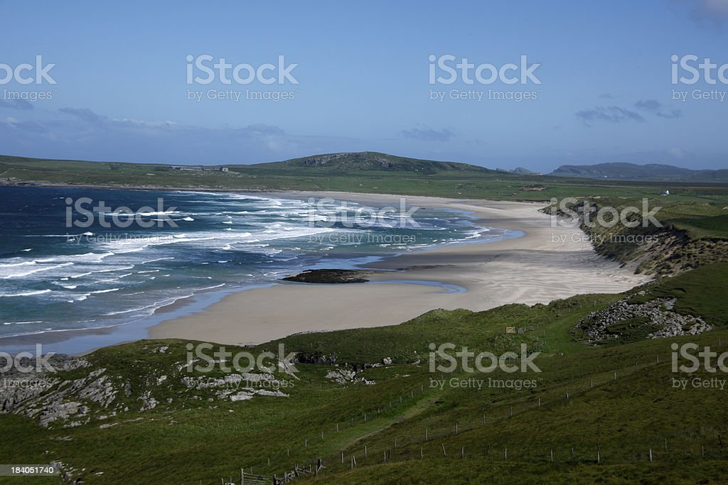 Dunes by Machir Bay stock photo