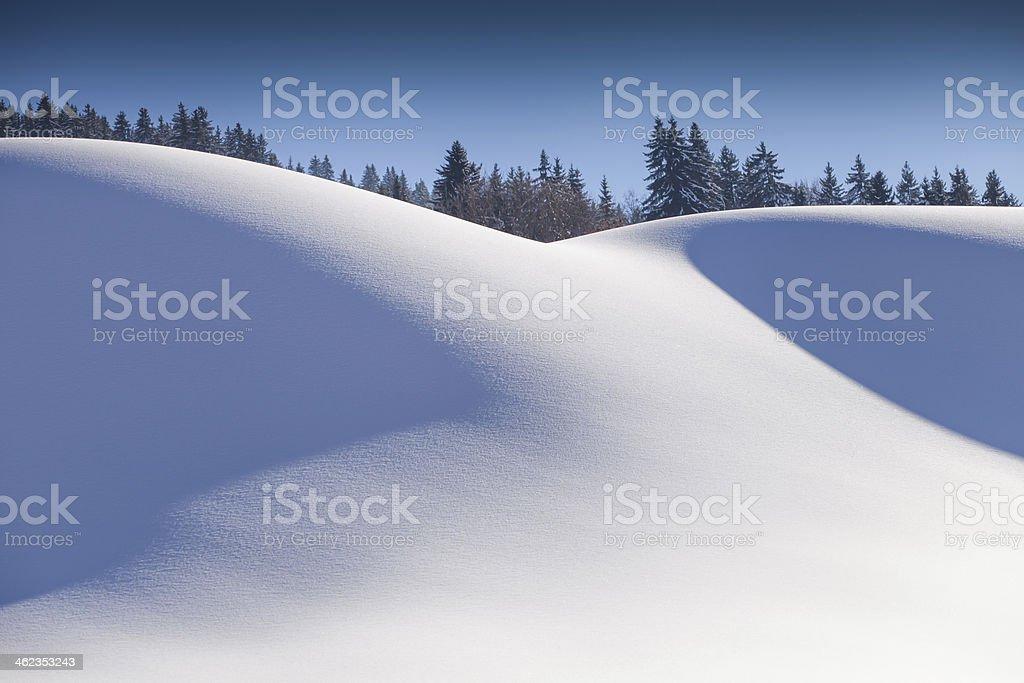 dunes de neige stock photo