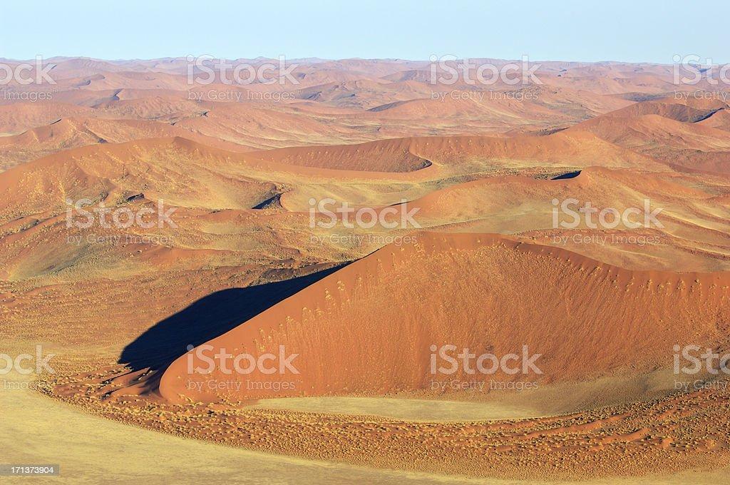 Dunes from the Namib Naukluft Park stock photo