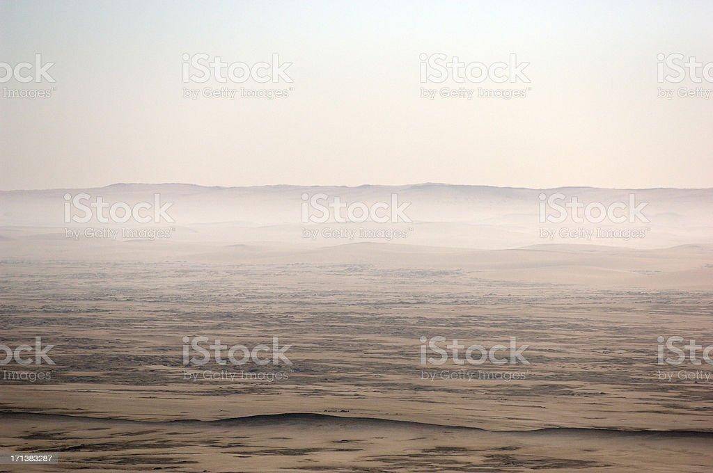 Dunes in Back Lit stock photo