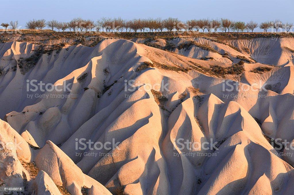 Dunes in Cappadocia. stock photo